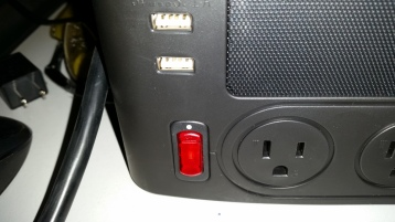 This one controls the four outlets, 2 USB ports, speaker, and light.