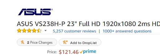 vs238h on Amazon