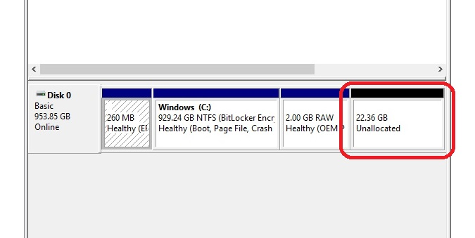 disk management ssd_cloned